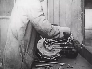 Early Motorcycle Manufacture - The Rover Imperial (silent movie)