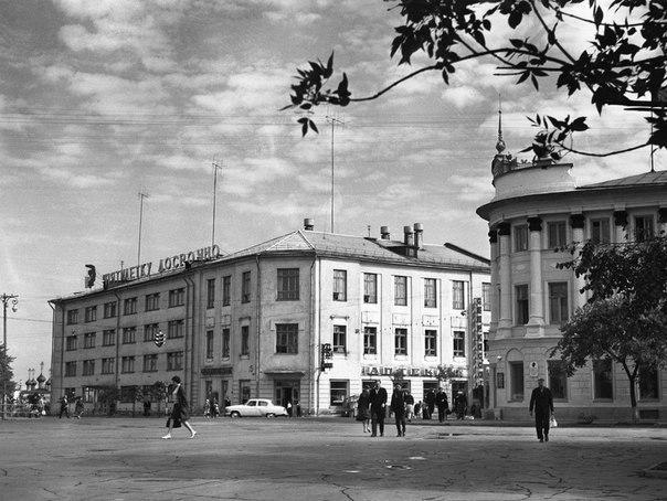 Старая Вологда, Перекресток Лермонтова и Ленина Фотография 1970-х годо