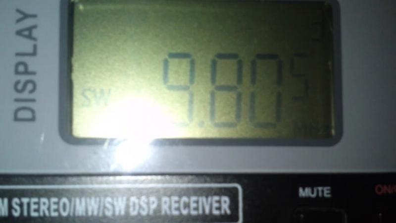 9805 kHz-KBS WORLD RADIO(Kimjae) South Korea~6929km