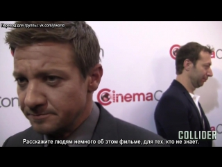 Jeremy Renner Compares Story of Your Life to Close Encounters of the Third Kind2 (рус. суб.)