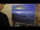 видеоурок ночное море ,прибой художник Анна Маратканова