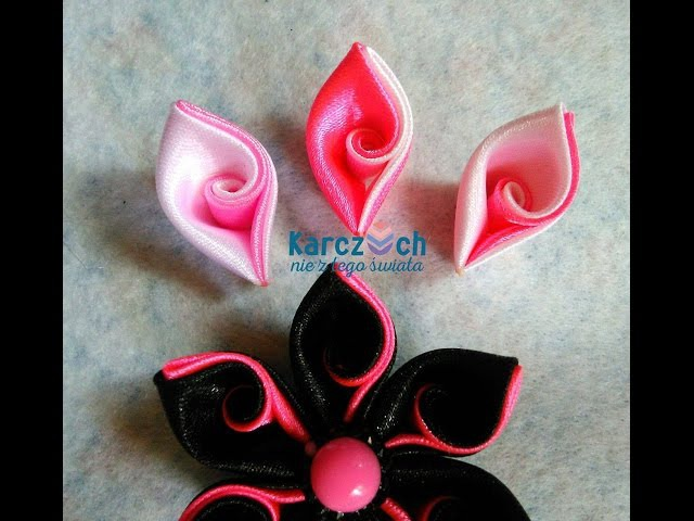 Kanzashi 21 - Curved petal (Easy way)