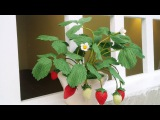 How To Make Strawberry From Floral Tape And Crepe Paper - Craft Tutorial