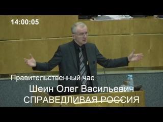 Выступление Олега Шеина на правительственном часе в Госдуме 15.03.2017