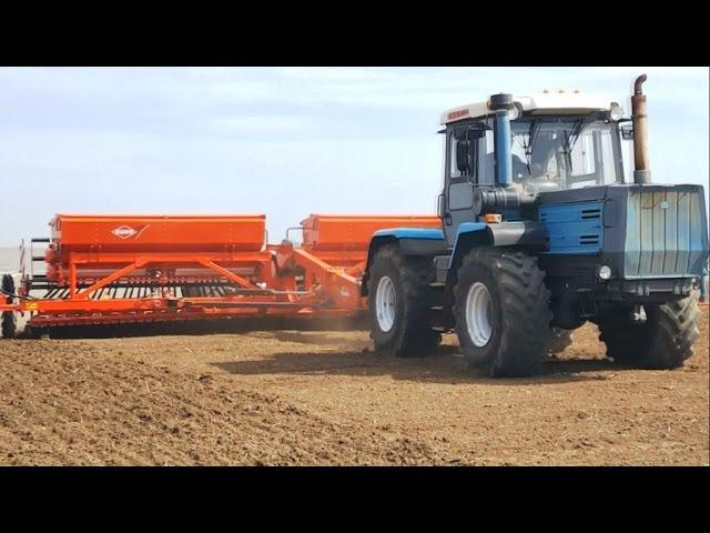 KUHN Premia 9000 TRC | Le semis de la luzerne | ХТЗ | Т-150 | посев люцерны |