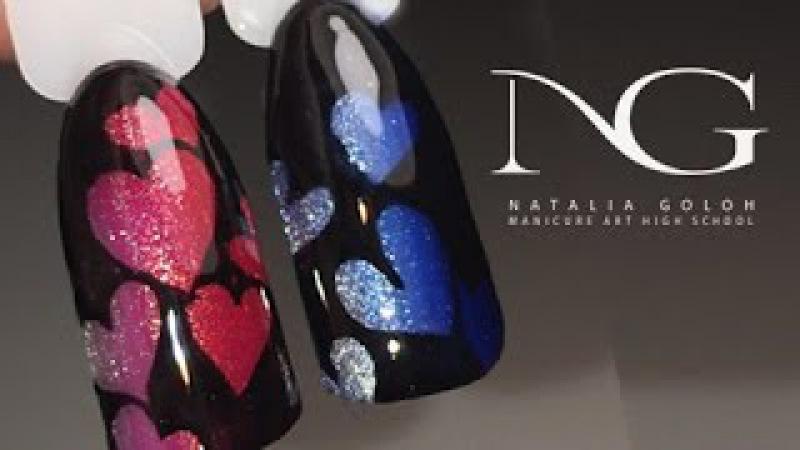 Маникюр на день Валентина: рисунки на ногтях / Valentine's Day Hearts Nails