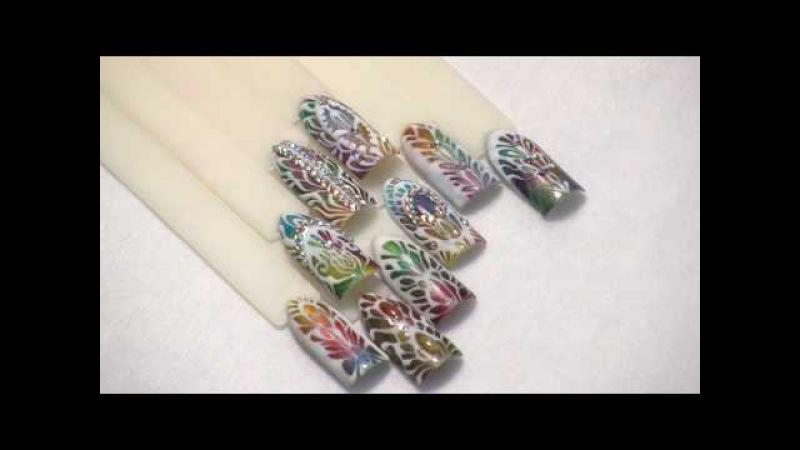 Идеи дизайна ногтей к новому году. Орнаменты.
