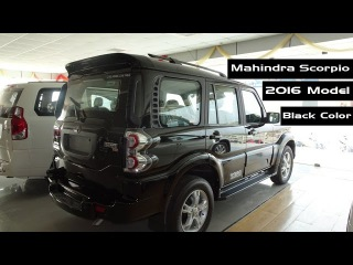 Mahindra Scorpio 2017 Black Color AMT Review | Interior And Exterior | At Showroom | India