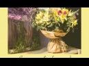 Уроки флористики букет из тюльпанов и нарциссов упаковка в крафт