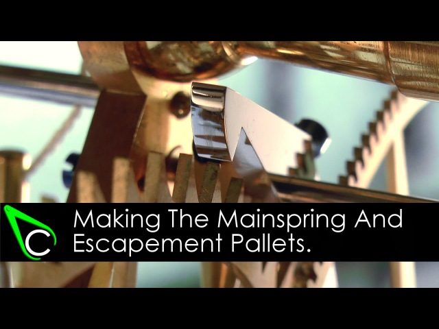 How To Make A Clock In The Home Machine Shop - Part 21 - The Mainspring And Escapement Pallets
