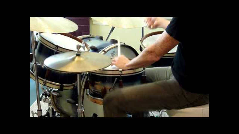 Dave Brophy Plays His Slingerland Rolling Bomber Kit - Part 4