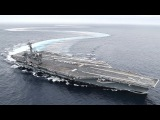 Aircraft Carrier Drifting &amp Doing Donuts USS Abraham Lincoln EXTREME High-Speed Turns