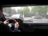 Яша за рулем Москвича