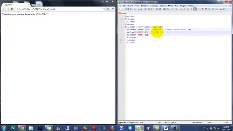 Yakın Kampüs - Javascript Ders 2 - Javascriptte Değişken Tanımlama ve Değişken Türleri