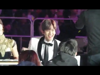 """Baekhyun during rv's """"russian roulette"""" at saf 2016"""