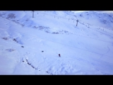 Extreme Drone Pilot Training- Snowboarding With 2 Powder Hounds in Chamonix - DJI Phantom 3 Dog Walk