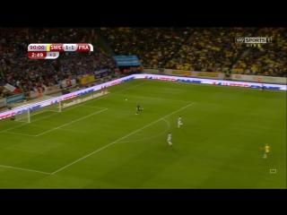 Победный гол шведов с центра поля