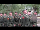Прохождение парадным строем будущих офицеров запаса. 23. 07. 2017.
