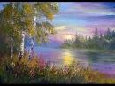 Мастер-класс Рисуем пейзаж с закатом