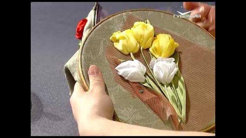 Ручная работа 29.04.2017. Вышивка тюльпаны