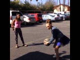 Maddie,Kendall,and Nia playing basketball!