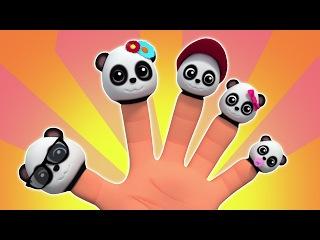 Gia đình ngón tay gấu trúc | trẻ em bài hát | Baby Bao Panda | Family Song | Bao Panda Finger Family