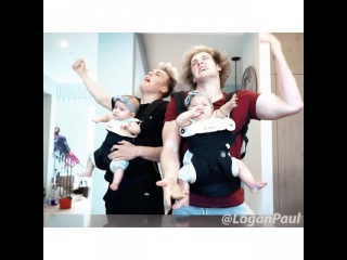 When the babies are left with the brothers... (w/ @JakePaul & @TaytumAndOakley)