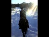 Озеро Голубое зимой)