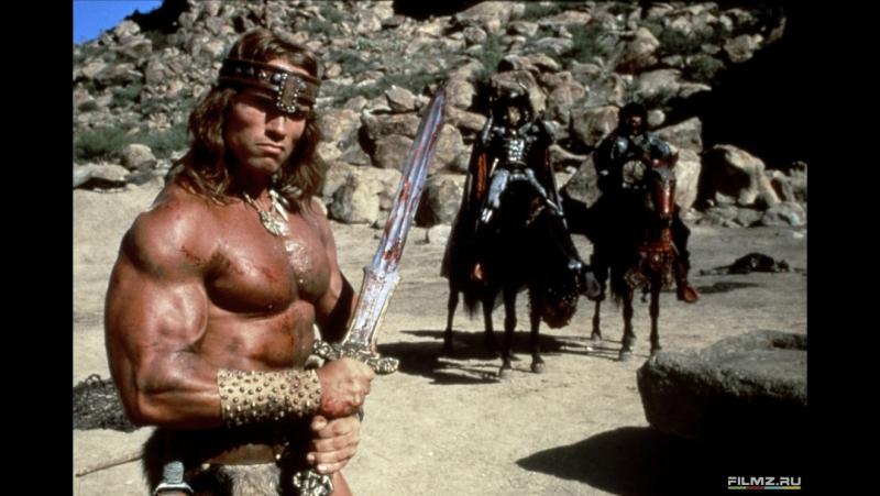 Конан-разрушитель (1984). Схватка Конана с воинами королевы Тарамис