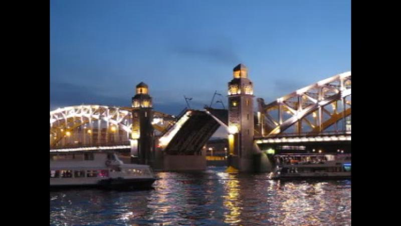 Белые ночи. мост Петра Великого.