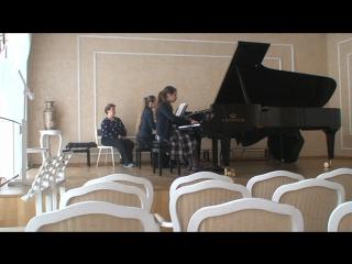 Моцарт Концерт для фортепиано с оркестром № 12, II-III ч.Лист - этюд op. 1 № 9,Бах Трехголосная инвенция f -moll,Дакен -Кукушка