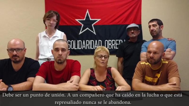 Homenaje de Solidaridad Obrera por Dario y Maxi