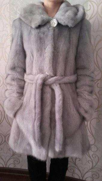 #Одежда@bankakomi Продам шубу - норка, серо-голубой цвет. Размер 44-4
