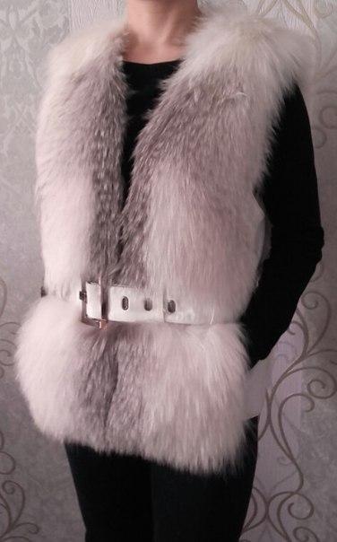 #Одежда@bankakomi Продам жилетку, размер 42-44, мех натуральный + кож