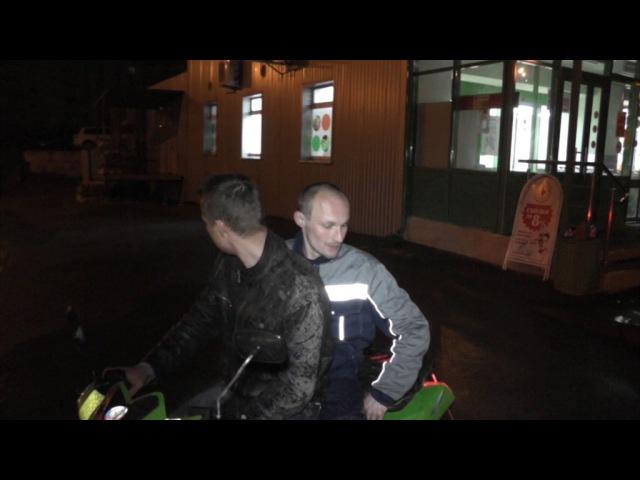 Пьяный рецидивист с братом на квадроцикле, ул. Упита. Место происшествия 15.06.2017