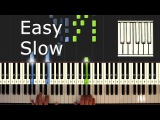 Main Theme - Forrest Gump - Piano Tutorial Easy SLOW - How to play (synthesia)