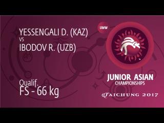 Qual. FS - 66 kg: R. IBODOV (UZB) df. D. YESSENGALI (KAZ), 3-1