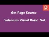 Selenium Visual Basic .Net Get Page Source