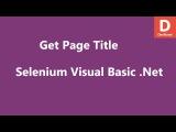 Selenium Visual Basic .Net Get Page Title