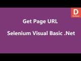 Selenium Visual Basic .Net Get Page URL