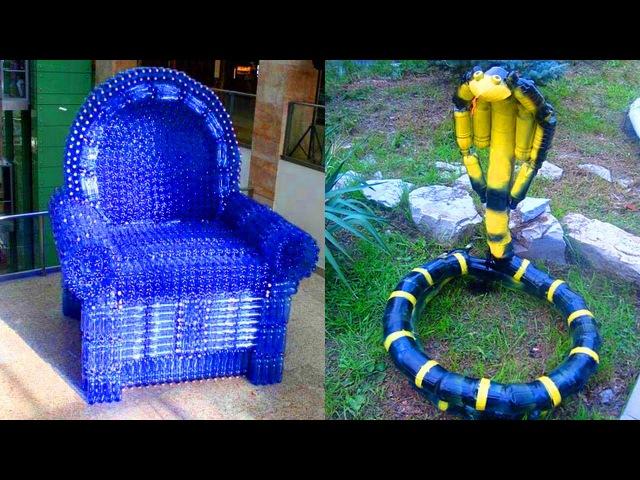 Поделки из пластиковых бутылок.Crafts from plastic bottles.