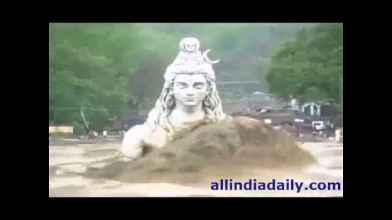 Statue of Lord Shiva in Rishikesh Ganga - Uttarakhand Floods