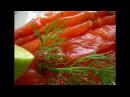 Малосольный лосось с коньяком, укропом и капелькой мёда salted salmon with cognac, dill and drop of
