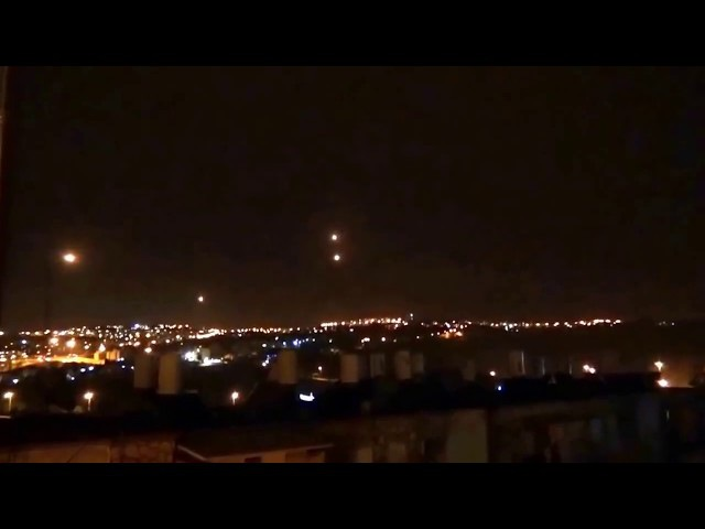 TWO ORB/UFO'S MERGE OVER JERUSALEM ISREAL CREATING SHOCKWAVE - 01/2017