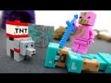 #Майнкрафт видео игрушки. Свинозомби украл алмазную руду! ИгроБой Егор и Стив