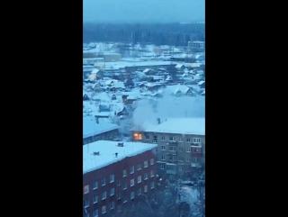Пожар в квартире. Пермь 13 января