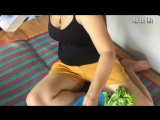 Amazing Cute Girl Cook Beef Lok Lak Recipe Village _The Village Foods funny , Amazing Factory foods (3)