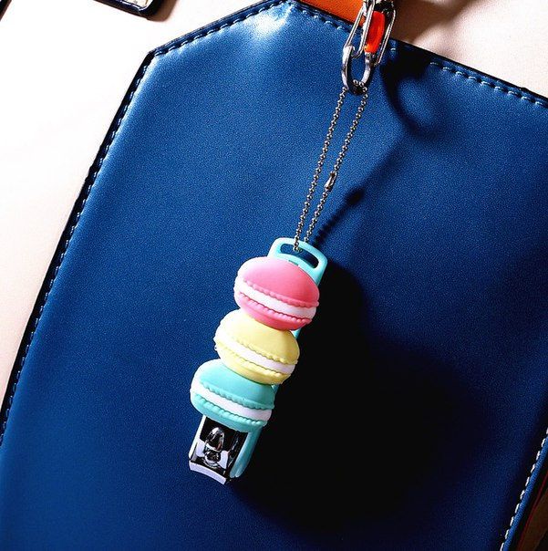 Милые кусачки для ногтей  https://ru.aliexpress.com/store/product/2015-Retail-Cute-Macaron-Nail-Clippers-Key-Chain-Ring-Holder-Pocket-Tool-Keychain-Chaveiro-Bag-Pendant/1630965_32306521125.html?detailNewVersion=&categoryId=200000174