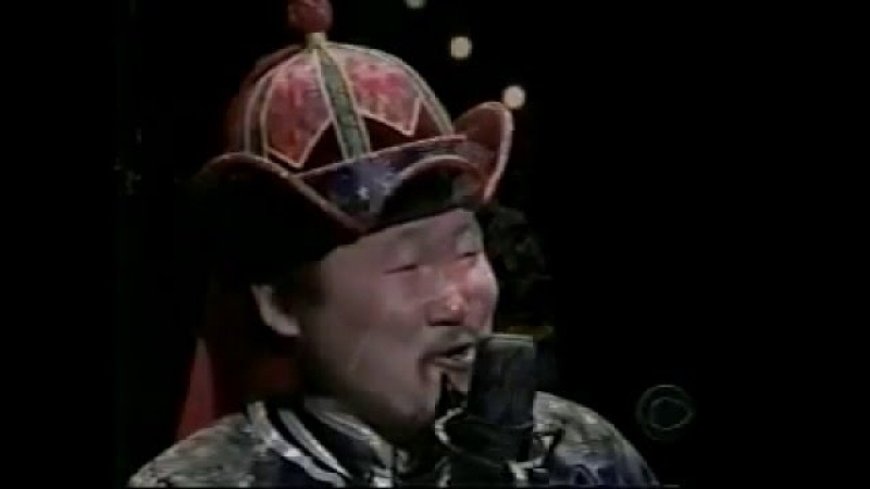 Kongar ol Ondar appears on the Late Show with David Letterman on February 12 1999
