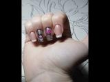Зеркальный зимний дизайн ногтей